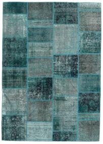 Patchwork - Persien/Iran Szőnyeg 167X236 Modern Csomózású Türkiz Kék/Sötét Turquoise (Gyapjú, Perzsia/Irán)