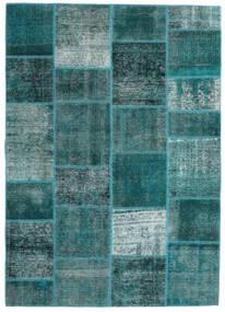 Patchwork - Persien/Iran Szőnyeg 165X233 Modern Csomózású Sötét Turquoise/Türkiz Kék (Gyapjú, Perzsia/Irán)