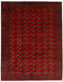 Turkaman Szőnyeg 296X383 Keleti Csomózású Sötétpiros/Sötétbarna Nagy (Gyapjú, Perzsia/Irán)