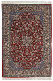 Isfahan Sherkat Farsh Szőnyeg 200X300 Keleti Csomózású Sötétpiros/Sötétbarna (Gyapjú/Selyem, Perzsia/Irán)