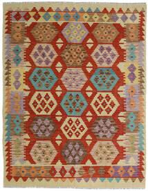 Kilim Afgán Old Style Szőnyeg 154X198 Keleti Kézi Szövésű Sötétpiros/Piros (Gyapjú, Afganisztán)