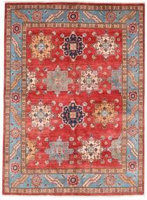 Kazak Szőnyeg 151X206 Keleti Csomózású Sötétpiros/Rozsdaszín (Gyapjú, Afganisztán)