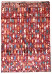 Moroccan Berber - Afghanistan Szőnyeg 115X169 Modern Csomózású Sötétpiros/Rozsdaszín (Gyapjú, Afganisztán)