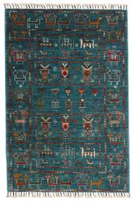 Sharbargan Szőnyeg 84X125 Modern Csomózású Sötétkék/Sötét Turquoise (Gyapjú, Afganisztán)