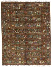 Shabargan Szőnyeg 156X201 Modern Csomózású Sötétbarna/Barna (Gyapjú, Afganisztán)
