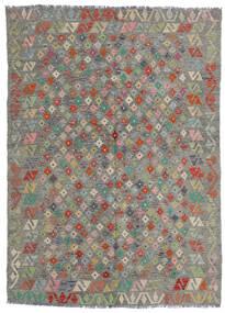 Kilim Afgán Old Style Szőnyeg 165X229 Keleti Kézi Szövésű Világosszürke/Sötétszürke (Gyapjú, Afganisztán)