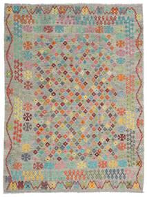 Kilim Afgán Old Style Szőnyeg 184X245 Keleti Kézi Szövésű Világosszürke/Sötétszürke (Gyapjú, Afganisztán)