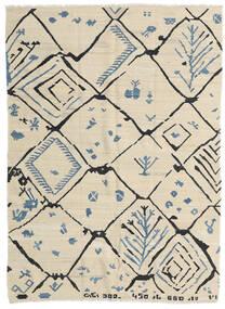 Kilim Modern Szőnyeg 175X237 Modern Kézi Szövésű Sötét Bézs/Bézs (Gyapjú, Afganisztán)