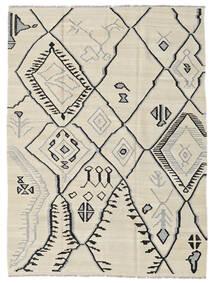 Kilim Modern Szőnyeg 174X230 Modern Kézi Szövésű Sötét Bézs/Világosszürke (Gyapjú, Afganisztán)