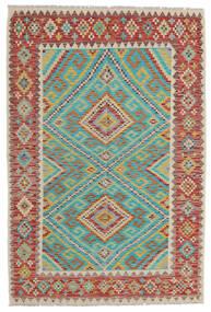 Kilim Afgán Old Style Szőnyeg 156X229 Keleti Kézi Szövésű Sötétpiros/Világosszürke (Gyapjú, Afganisztán)