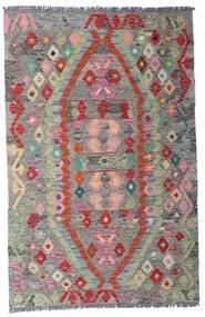 Kilim Afgán Old Style Szőnyeg 96X149 Keleti Kézi Szövésű Világosszürke/Sötétszürke (Gyapjú, Afganisztán)