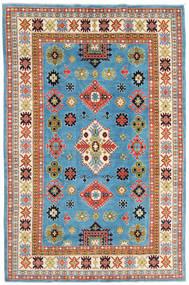 Kazak Szőnyeg 208X315 Keleti Csomózású Türkiz Kék/Bézs (Gyapjú, Afganisztán)
