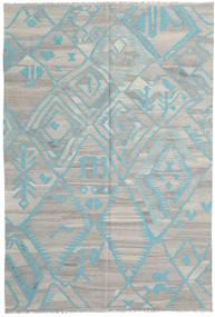 Kilim Modern Szőnyeg 200X294 Modern Kézi Szövésű Világosszürke (Gyapjú, Afganisztán)