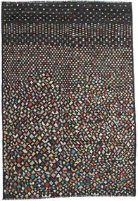 Kilim Modern Szőnyeg 202X292 Modern Kézi Szövésű Fekete/Sötétszürke (Gyapjú, Afganisztán)
