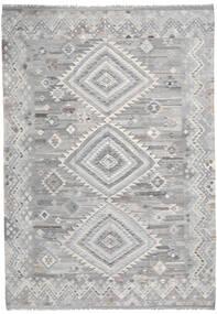 Kilim Ariana Szőnyeg 205X296 Modern Kézi Szövésű Világosszürke (Gyapjú, Afganisztán)