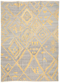 Kilim Ariana Szőnyeg 208X287 Modern Kézi Szövésű Világosszürke/Bézs (Gyapjú, Afganisztán)