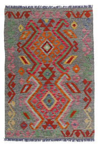 Kilim Afgán Old Style Szőnyeg 81X118 Keleti Kézi Szövésű Sötétszürke/Sötétpiros (Gyapjú, Afganisztán)