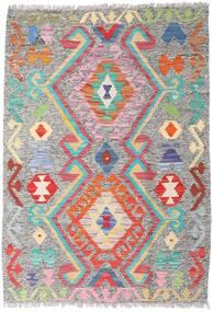 Kilim Afgán Old Style Szőnyeg 86X124 Keleti Kézi Szövésű Világosszürke (Gyapjú, Afganisztán)
