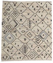Kilim Modern Szőnyeg 254X289 Modern Kézi Szövésű Világosszürke/Sötétszürke Nagy (Gyapjú, Afganisztán)
