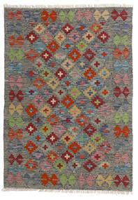 Kilim Afgán Old Style Szőnyeg 80X113 Keleti Kézi Szövésű Sötétszürke/Világosszürke (Gyapjú, Afganisztán)