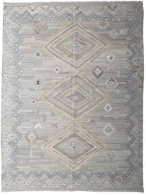 Kilim Modern Szőnyeg 256X335 Modern Kézi Szövésű Világosszürke/Sötétszürke Nagy (Gyapjú, Afganisztán)