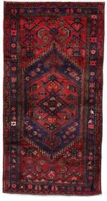 Hamadán Szőnyeg 105X206 Keleti Csomózású Sötétpiros/Sötétlila (Gyapjú, Perzsia/Irán)