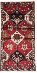 Hamadán Szőnyeg 103X207 Keleti Csomózású Sötétpiros/Fekete (Gyapjú, Perzsia/Irán)