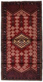 Hamadán Szőnyeg 110X212 Keleti Csomózású Sötétpiros/Sötétbarna (Gyapjú, Perzsia/Irán)