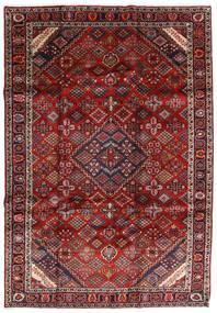 Mashad Szőnyeg 207X300 Keleti Csomózású Sötétpiros/Sötétszürke (Gyapjú, Perzsia/Irán)