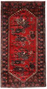 Hamadán Szőnyeg 102X193 Keleti Csomózású Sötétpiros/Sötétbarna (Gyapjú, Perzsia/Irán)