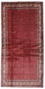 Sarough Mir Szőnyeg 107X215 Keleti Csomózású Sötétpiros/Piros (Gyapjú, Perzsia/Irán)