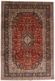 Kashan Szőnyeg 246X357 Keleti Csomózású Sötétbarna/Sötétpiros (Gyapjú, Perzsia/Irán)
