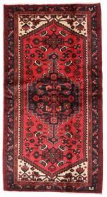 Hamadán Szőnyeg 101X192 Keleti Csomózású Sötétpiros/Rozsdaszín (Gyapjú, Perzsia/Irán)