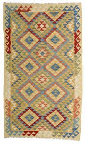 Kilim Afgán Old Style Szőnyeg 111X190 Keleti Kézi Szövésű Sötétszürke/Világoszöld (Gyapjú, Afganisztán)