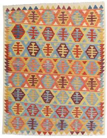 Kilim Afgán Old Style Szőnyeg 157X202 Keleti Kézi Szövésű Sötét Bézs/Világoskék (Gyapjú, Afganisztán)
