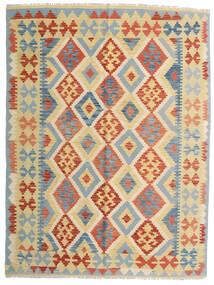 Kilim Afgán Old Style Szőnyeg 153X205 Keleti Kézi Szövésű Bézs/Sötét Bézs (Gyapjú, Afganisztán)