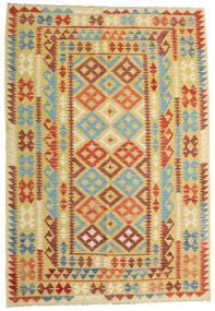 Kilim Afgán Old Style Szőnyeg 161X233 Keleti Kézi Szövésű Sötét Bézs/Sárga (Gyapjú, Afganisztán)