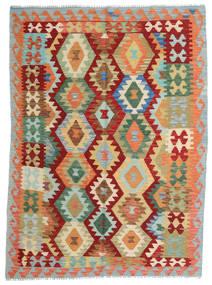 Kilim Afgán Old Style Szőnyeg 150X203 Keleti Kézi Szövésű Piros/Sötét Bézs (Gyapjú, Afganisztán)