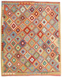 Kilim Afgán Old Style Szőnyeg 154X194 Keleti Kézi Szövésű Sötét Bézs/Piros (Gyapjú, Afganisztán)