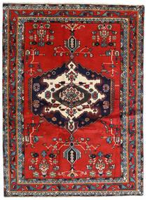 Afshar Szőnyeg 122X165 Keleti Csomózású Rozsdaszín/Sötétkék (Gyapjú, Perzsia/Irán)