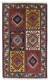 Yalameh Szőnyeg 62X104 Keleti Csomózású Sötétpiros/Sötétbarna (Gyapjú, Perzsia/Irán)