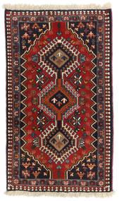 Yalameh Szőnyeg 60X104 Keleti Csomózású Sötétpiros/Sötétkék (Gyapjú, Perzsia/Irán)