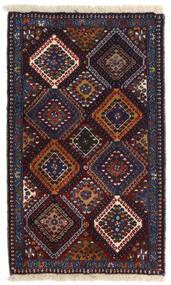 Yalameh Szőnyeg 60X100 Keleti Csomózású Fekete/Sötétpiros (Gyapjú, Perzsia/Irán)