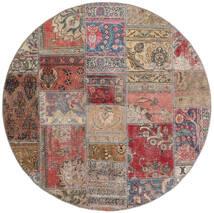 Patchwork - Persien/Iran Szőnyeg Ø 150 Modern Csomózású Kerek Barna/Világosszürke (Gyapjú, Perzsia/Irán)