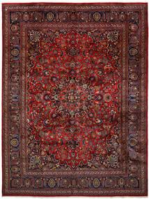 Mashad Szőnyeg 296X393 Keleti Csomózású Sötétpiros/Sötétszürke Nagy (Gyapjú, Perzsia/Irán)