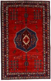 Afshar Szőnyeg 157X248 Keleti Csomózású Sötétpiros/Rozsdaszín (Gyapjú, Perzsia/Irán)
