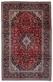 Kashan Szőnyeg 198X308 Keleti Csomózású Sötétpiros/Fekete (Gyapjú, Perzsia/Irán)