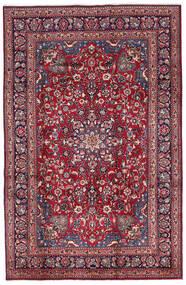 Mashad Szőnyeg 197X300 Keleti Csomózású Sötétlila/Sötétpiros (Gyapjú, Perzsia/Irán)