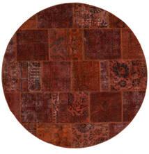 Patchwork - Persien/Iran Szőnyeg Ø 200 Modern Csomózású Kerek Sötétbarna/Sötétpiros (Gyapjú, Perzsia/Irán)