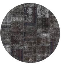 Patchwork - Persien/Iran Szőnyeg Ø 200 Modern Csomózású Kerek Fekete/Barna (Gyapjú, Perzsia/Irán)
